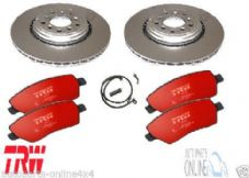 LAND ROVER DISCOVERY 3/4 -TDV6 - REAR -DISCS, TRW PAD and SENSOR SET - BDM06R
